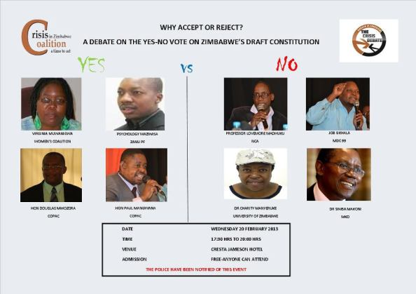Yes or No Debate on Zim Constitution