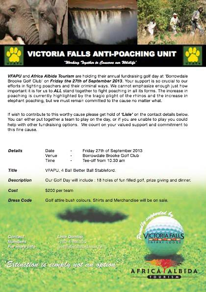 Vic Falls Anti Poaching Golf Day